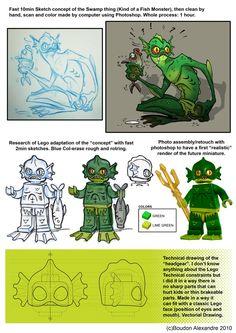 ผลการค้นหารูปภาพสำหรับ lego fantasy swamp monster