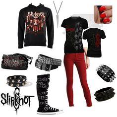 Slipknot minus the skinny jeans, looks like my kind of outfit!