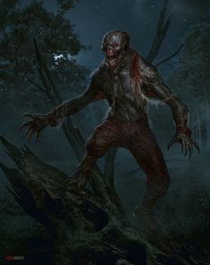 Ghoul by George Redreev Zombie Kunst, Arte Zombie, Zombie Art, Cthulhu Art, Call Of Cthulhu, Myths & Monsters, Dnd Monsters, Medieval Fantasy, Dark Fantasy