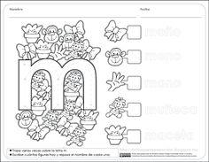 Fichas para preescolar: Reconocer características del sistema de escritura…