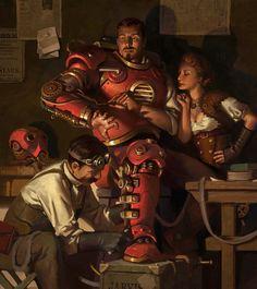 Steampunk Iron Man - Jason Kang