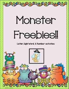 Monster Freebies! - Learning Ahoy!!