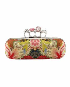 Floral-Print Long Knuckle-Duster Clutch Bag by Alexander McQueen at Neiman Marcus.