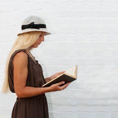 Natural linen summer hat, woman cloche hat retro inspired. $29.00, via Etsy.