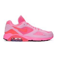 4aef028be7 COMME DES GARÇONS HOMME DEUX Pink Nike Edition Air Max 180 Sneakers.  #commedesgarçonshommedeux #