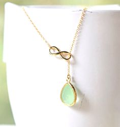 Custom Lariat Bridesmaids Necklace. Infinity Necklace.