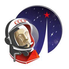 #bornonthisday Yuri Gagarin first man in space #illustration #design #art #vector #digital