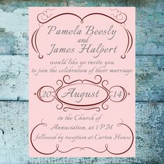 Printable Wedding Suite  Invitation RSVP & by PositivelyGhastly