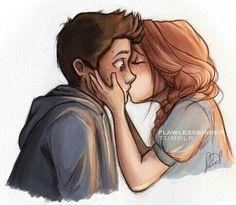 boy, crush, drawing, first, girl, kiss, love, me, studio, surprised, teen wolf, stydia