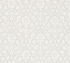 A timeless design from the archive of Annecy wallpaper will add a sophisticated touch to any room. This dove grey and white wallpaper looks great used for eithe...