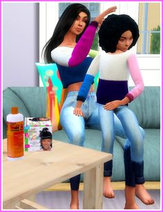 """Hair Time"" Poses by Prettyxsimblr The Sims, Sims Cc, Sims Mods, Sims 4 Game Mods, Sims 4 Couple Poses, Sims 4 Family, Sims 4 City Living, Sims 4 Traits, Toddler Poses"