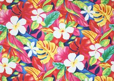 Curtains for Jane's playhouse   This cotton poplin apparel fabric is bright and happy. Add Discount code: (Pin10) in comment box at check out for 10% off sub total at BarkclothHawaii.com