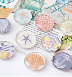 DIY Beach Magnets with Mod Podge | Click Pic for 20 DIY Beach Decorating Ideas for the Home | DIY Coastal Decorating Ideas for the Home | Nautical Decor Ideas