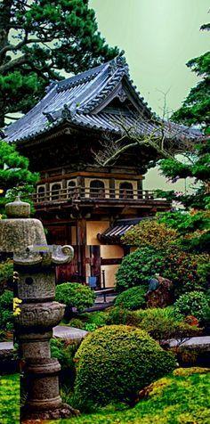 Beautiful Japanese Tea Garden