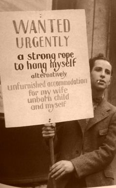 Photograph of an unknown man during the Depression, circa 1932