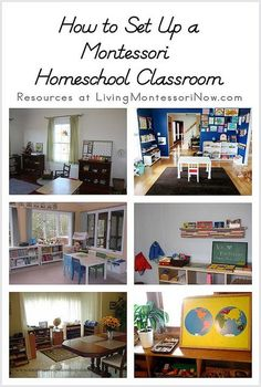 I'm often asked how to set up a Montessori classroom at home...