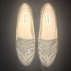 Cute sparkly loafers! These shows are super fun. I only wore them once so they still look new. Steve Madden Shoes