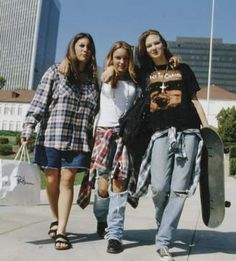 What my friends and I looked like in the 90's. Teen years.