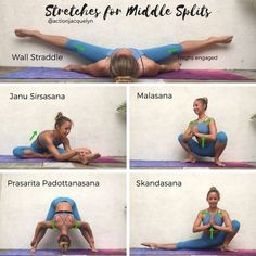 Action Jacquelyn | Stretches for the Middle Splits , Follow PowerRecipes For More.