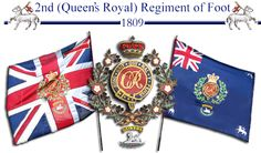 2nd(Queens Royal) Regiment of Foot colours 1809