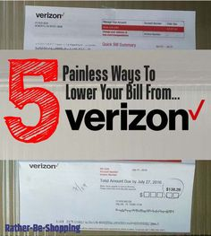 How to Lower Your Verizon Bill: 5 Painless Ways to Make it Happen Best Money Saving Tips, Money Tips, Saving Money, Frugal Living Tips, Frugal Tips, Smartphone Plans, Verizon Phones, Verizon Wireless, Preparing For Retirement