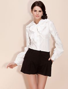 bow puff blouse