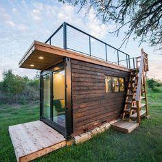 Shed To Tiny House, Tiny House Cabin, Tiny House Living, Tiny House Plans, Tiny House Design, Tiny Houses, Cob Houses, Guest Houses, Cabin Design
