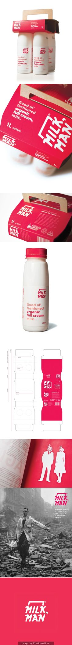 Wow, that's some MilkMan #packaging curated by Packaging Diva PD created via https://www.behance.net/gallery/MILKMAN-Packaging/1753600