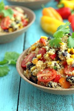 Detox Quinoa and Veggie Salad - we sub in parsley for cilantro