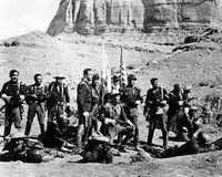 "Ward Bond, Pedro Armendaa-Riz, Henry Fonda, John Wayne, ""Fort Apache"""