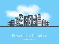 smart city powerpoint template | smart city, city and template, Modern powerpoint