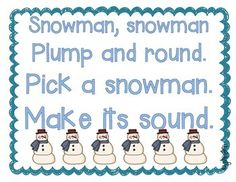 Winter/Christmas Snowman Letter Sound Game