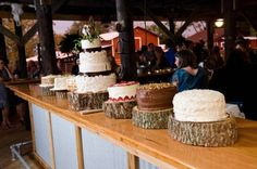 Like the ides of an assortment of cake to serve, we are planning on mixing silver and china with mason jars, galvanized tin and any thing country...Florida Country Barn Wedding: Emily   Trey