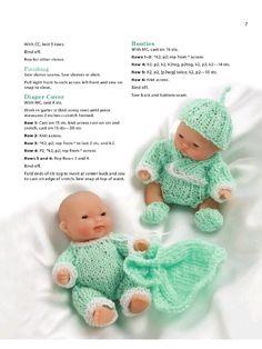 Aperçu du fichier Itty bitty knitties - Page - Fichier PDF Barbie Knitting Patterns, Knitted Doll Patterns, Knitting Dolls Clothes, Barbie Clothes Patterns, Doll Clothes Barbie, Crochet Doll Clothes, Knitted Dolls, Baby Knitting Free, Baby Booties Knitting Pattern