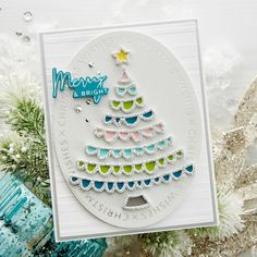 """GLP-182 Christmas Essential Glimmer Ovals: Send lots of kisses with the """"X's"""" and sentiments that make up this 3 Glimmer plate set. Create a foiled card base or die cut ovals using the Essential Oval die set (S4-1038) to create stunning Christmas cards. What's New 