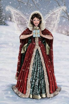 Christmas Fairy Bearing Gifts by suerundlehughes, via Flickr