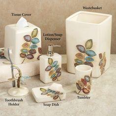 Spa Leaf Bathroom Accessories