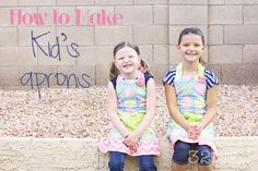 A great tutorial on an adorable double sided apron. Come read this and learn how to make a kids apron. Super cute with easy to follow directions.