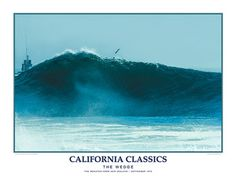 Surfing The Wedge California Classics Poster Print - Creation Captured Surfs Up, Surfing, Poster Prints, Waves, California, Wedge, Sports Posters, Classic, Woody