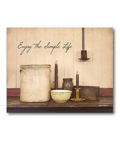 Take a look at this 'The Simple Life' Canvas Wall Art on zulily today!