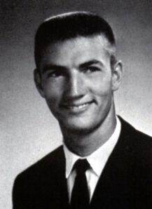 Phil Robertson of Duck Dynasty..... His yearbook photo from Louisiana Tech in Ruston, Louisiana.  He was the star football Quarterback and his 2nd string backup was the now famous Terry Bradshaw