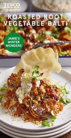 """Jamie Oliver says, """"After all that rich festive eating, my taste buds are often left crying out for a bit … Curry Recipes, Vegetable Recipes, Vegetarian Recipes, Cooking Recipes, Healthy Recipes, Healthy Meals, Balti Recipes, Bowls, Veg Curry"""