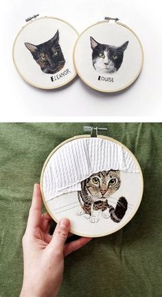 Embroidered realistic pets and couple portraits – Anya Helm interview