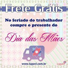 Hoje Frete Grátis para todo o Brasil. Aproveite o feriado para comprar o presente do Dia das Mães.  www.lupavi.com.br  #LupaviPatchwork #Artesanato #Customizado #Personalizado #Patchwork #FreteGrátis #Brasil #feriado #feitoamao #artemanual #CompreOnline #DiaDasMães #Mãe #Mães #Mamãe #mãezinha #MelhorMãeDoMundo #Presente #PresenteDiaDasMães #Mimo #Lupavi