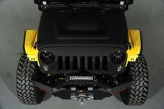 "Custom ""Yellow Jacket"" 2014 Jeep Wrangler Unlimited: Custom Hood"