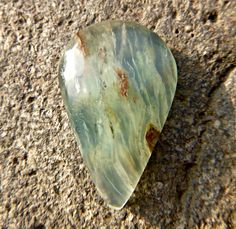 Genuine Big Peruvian Cabochon Opal, Nice drop shaped Ocean Blue Peruvian Andean Opal for making jewelry or collecting, Peru Charmstone - pinned by pin4etsy.com