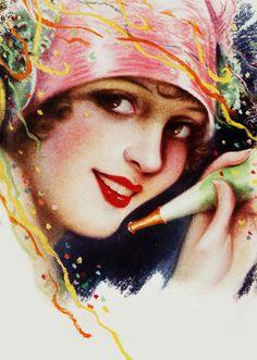 Illustration of Madge Bellamy byCharles Gates Sheldon, 1929
