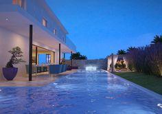 Modern design Mediterranean villa and lavish pool! / Inspiring Home & Pool ideas byCOCOON.com