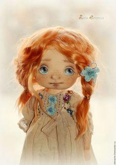 Коллекционные куклы ручной работы. Ярмарка Мастеров - ручная работа. Купить Вика. Handmade. Бежевый, интерьер, ручная работа, выкройка