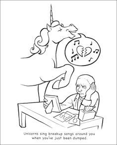 Unicorns Are Jerks Coloring Book